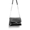 Borsa tracolla con micro borchie bata, nero, 961-6211 - 17
