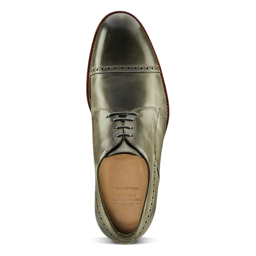 Stringate verdi in pelle bata-the-shoemaker, 824-2348 - 15