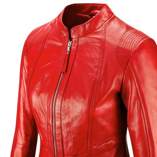 Giacca in vera pelle da donna bata, rosso, 974-5180 - 15