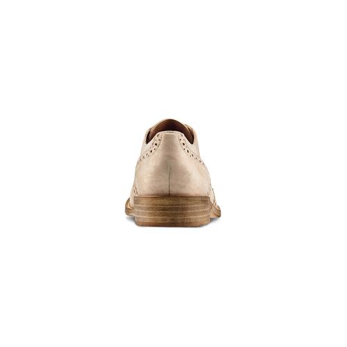 Stringate Brogue in suede bata, beige, 523-8482 - 15