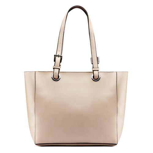 Shopper da donna con applicazioni floreali bata, beige, 961-8232 - 26