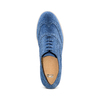 Stringate in suede bata, blu, 523-9266 - 17