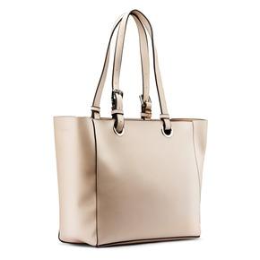 Shopper da donna con applicazioni floreali bata, beige, 961-8232 - 13