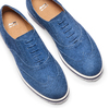 Stringate in suede bata, blu, 523-9266 - 26