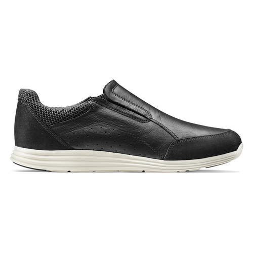 Slip-on in pelle bata-light, nero, 834-6162 - 26