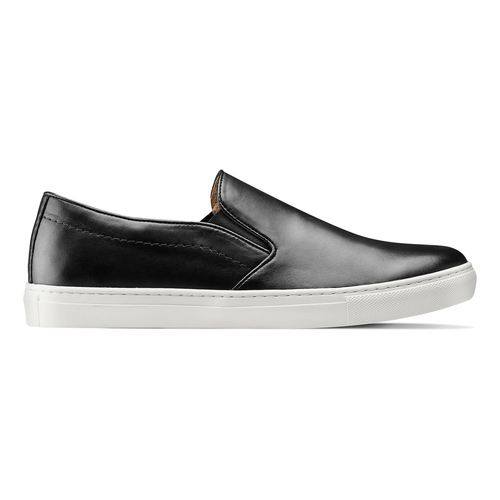 Slip on in vera pelle, nero, 834-6136 - 26