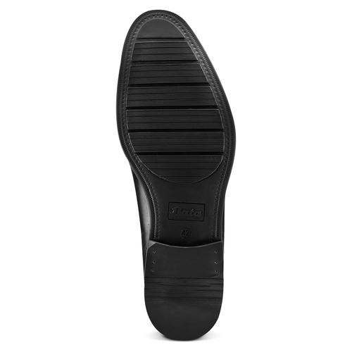 Stringate in pelle da uomo bata, nero, 824-6361 - 19