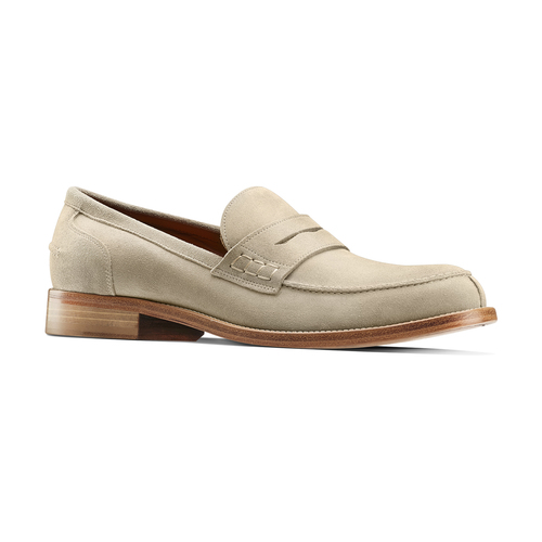 Mocassini in suede da uomo bata-the-shoemaker, beige, 813-3116 - 13
