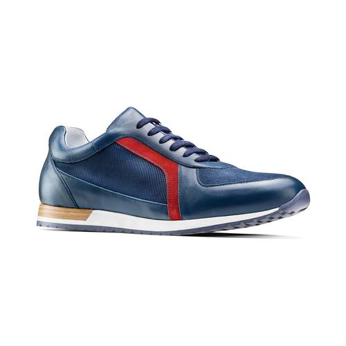 Sneakers in vera pelle da uomo bata, blu, 844-9142 - 13