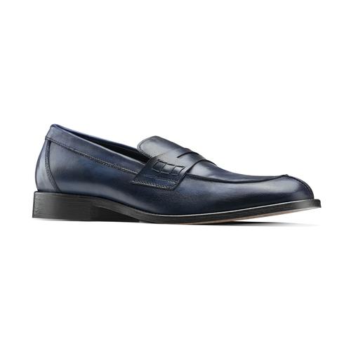 Mocassino in vera pelle da uomo bata-the-shoemaker, blu, 814-9129 - 13