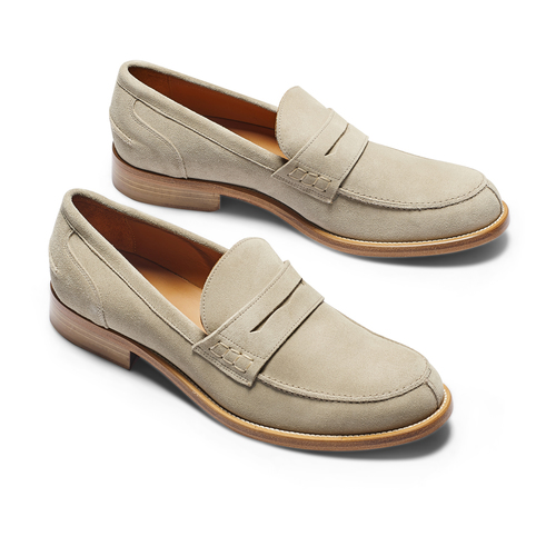 Mocassini in suede da uomo bata-the-shoemaker, beige, 813-3116 - 19
