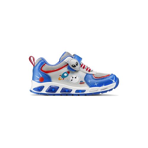 Sneakers da bambino con luci mini-b, blu, 211-9102 - 26