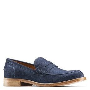 Mocassini in suede bata-the-shoemaker, blu, 813-9116 - 13