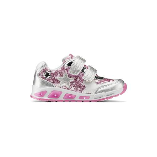 Sneakers con luci da bambina mini-b, grigio, 221-2194 - 26
