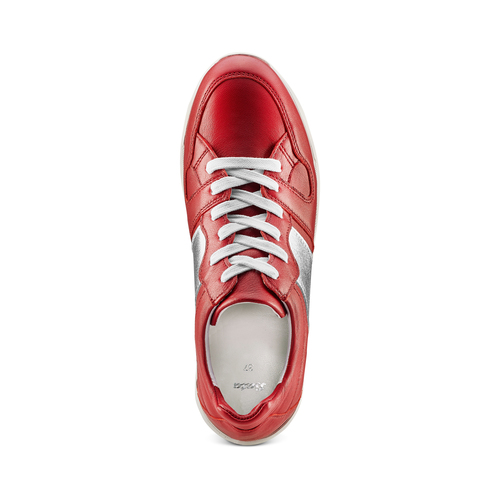 Sneakers Platform in pelle bata, rosso, 624-5158 - 17