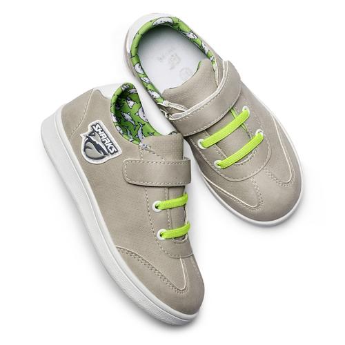 Sneakers basse da bambino mini-b, beige, 211-2191 - 19