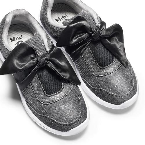 Sneakers da bambina con fiocco mini-b, nero, 329-6341 - 26