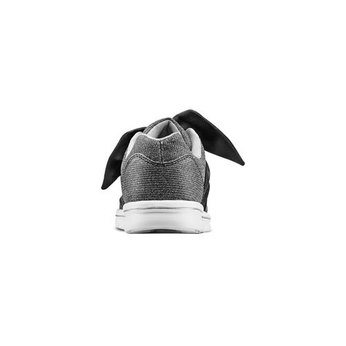 Sneakers da bambina con fiocco mini-b, nero, 329-6341 - 15