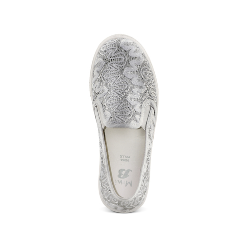 Slip on da bambina mini-b, argento, 329-1327 - 17