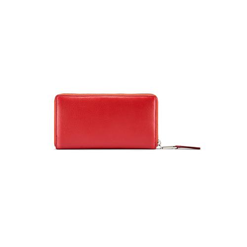 Portafoglio in pelle bata, rosso, 944-5120 - 26