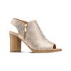 Tronchetto open toe bata, oro, 721-8254 - 13