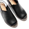 Sandali con zip bata, nero, 721-6254 - 26