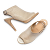 Sandali con tacco alto bata, beige, 724-2187 - 26