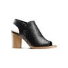 Sandali con zip bata, nero, 721-6254 - 13