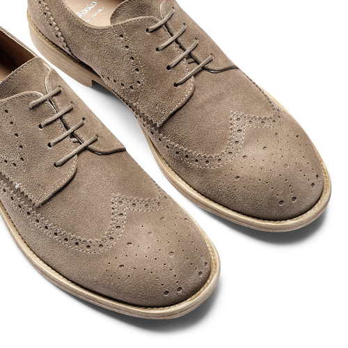 Derby in suede da uomo bata, marrone, 823-3306 - 19