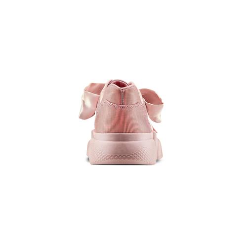 Sneakers rosa con lacci in satin bata, rosa, 549-5202 - 15