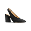 Sling back shoes in pelle scamosciata bata, nero, 723-6248 - 13