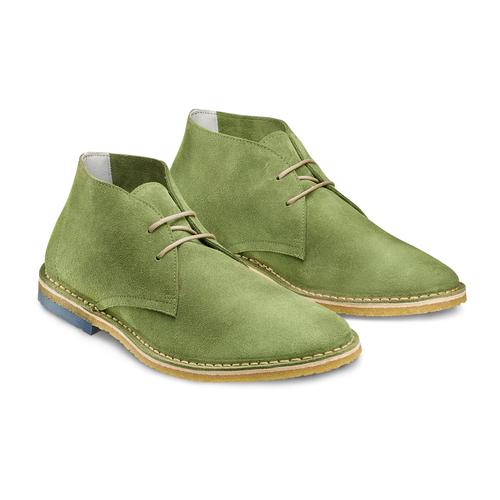 Polacchini in suede bata, verde, 823-7291 - 16