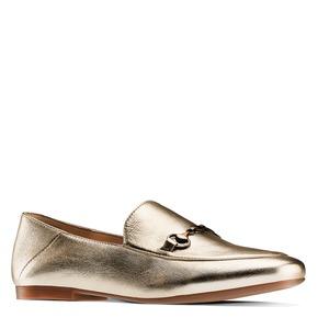 Mocassini eleganti da donna bata, oro, 514-8170 - 13