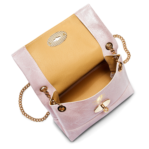 Minibag in vera pelle bata, rosa, 964-0239 - 16