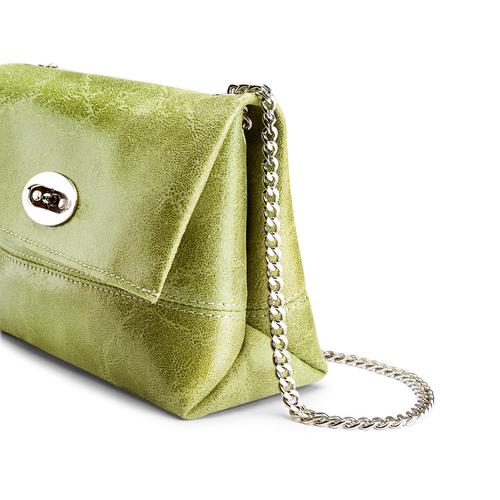 Minibag in vera pelle bata, verde, 964-7269 - 15