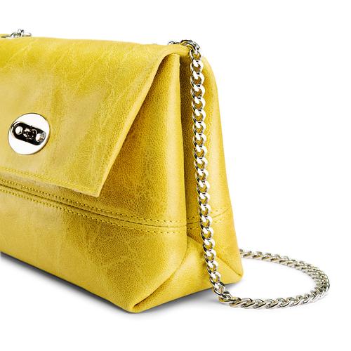 Minibag in vera pelle bata, giallo, 964-8249 - 15