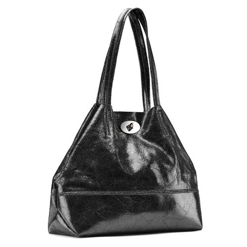 Borsa a spalla in pelle bata, nero, 964-6357 - 13