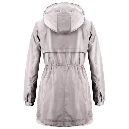 Giacca lunga con cappuccio bata, bianco, 979-1178 - 26
