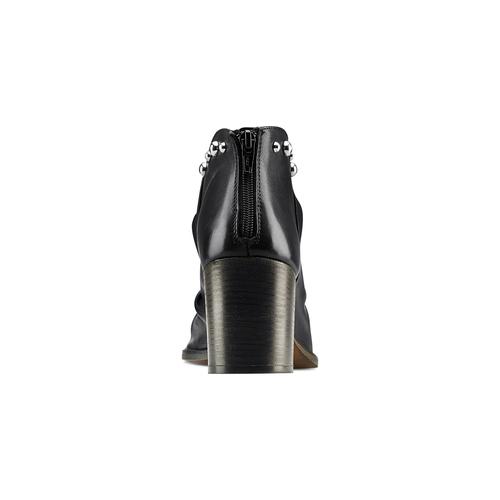 Sandali con effetto arricciato bata, nero, 724-6192 - 15