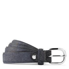 Cintura in vera pelle bata, blu, 954-9131 - 13