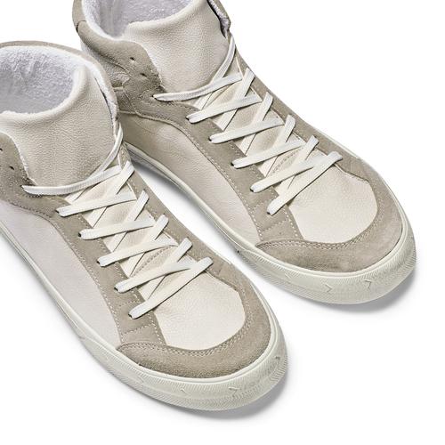 Sneakers alte da uomo bata, bianco, 841-1406 - 26
