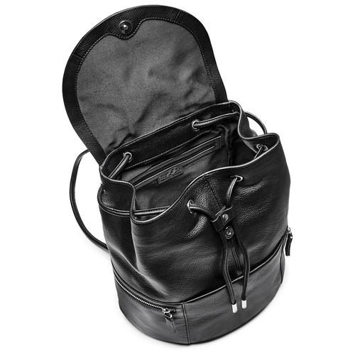 Zainetto in pelle bata, nero, 964-6259 - 16