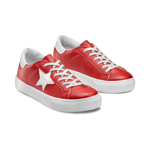Sneakers con stella bata, rosso, 541-5376 - 16