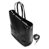 Shopper con intreccio bata, nero, 961-6236 - 17