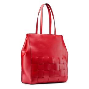 Shopper con intreccio bata, rosso, 961-5236 - 13