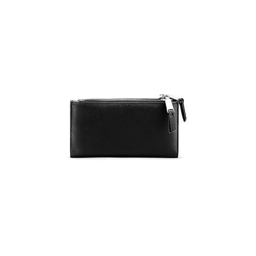 Portafoglio con tasca frontale bata, nero, 941-6168 - 26