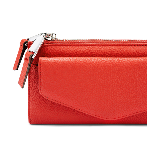 Portafoglio da donna bata, rosso, 941-5168 - 15