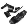 Sandali in pelle bata, nero, 764-6159 - 26