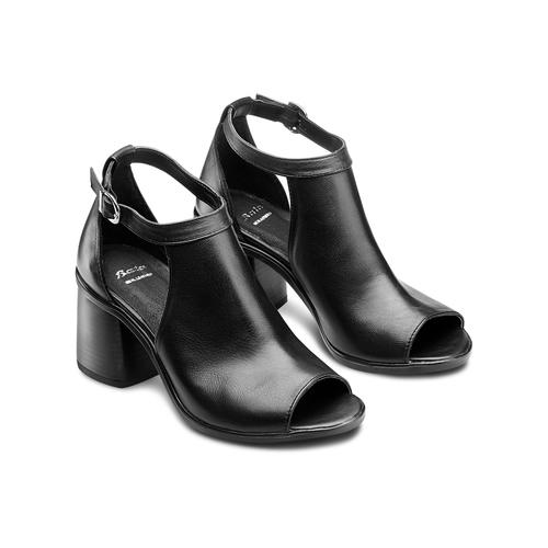 Sandali in pelle bata, nero, 724-6297 - 16