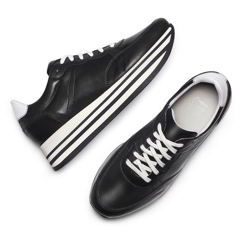 Sneakers platform bata, nero, 644-6102 - 26